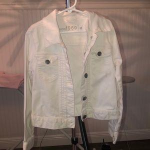 Girls white denim jacket GAP Kids
